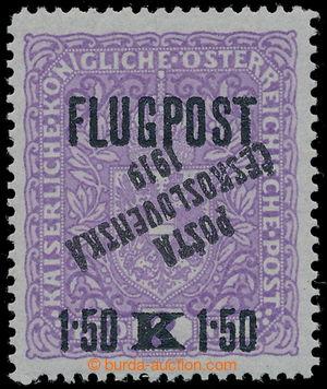 195042 -  Pof.52I Pp, AIRMAIL with overprint FLUGPOST 1,50K/2K violet