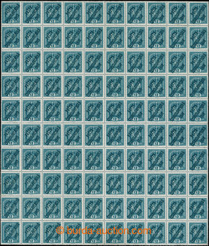 195043 -  Pof.37 ST A+B+C+D, Crown 12h green-blue, complete sheet of