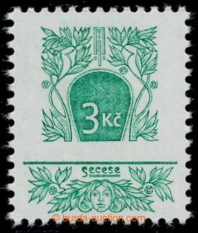195091 - 1995 Pof.90 production flaw, Art Nouveau 3CZK, quite omitted