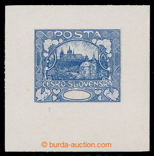 195140 -  PLATE PROOF  in blue color, 5th stage of printing, die proo