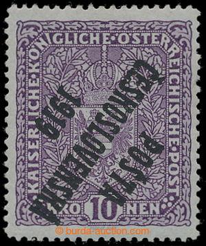 195147 -  Pof.51I Pp, Coat of arms 10K light violet, high size, INVER