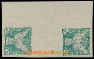 195339 - 1918 Pof.NV1Ms(2), Falcon 2h green, 2-stamps vertical gutter