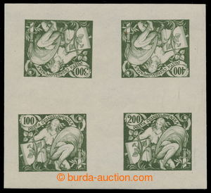 195343 -  PLATE PROOF / gravure printing - joined printing of 4 value