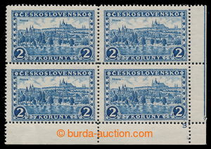 195350 - 1926 Pof.229, Prague, Tatras 2Kč blue, without watermark, l