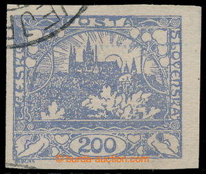 195363 -  VEJPRTY FORGERY  Pof.F22, value 200h blue with part of canc