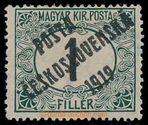 195364 -  Pof.126Pz, Black numerals 1f green / black, combined perfor
