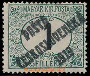 195365 -  Pof.126Py, Black numerals 1f green / black, comb perforatio