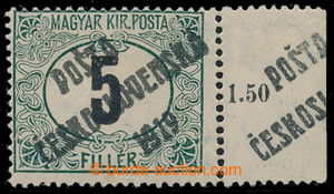 195366 -  Pof.128Pz, Black numerals 5f green / black with right sheet