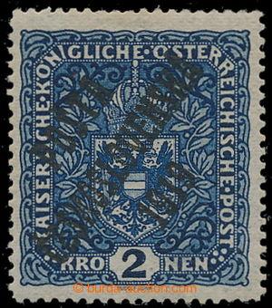 195378 -  Pof.48aII, Coat of arms 2 K dark blue, wide format, overpri