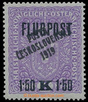 195383 -  Pof.52I, AIRMAIL with overprint FLUGPOST 1,50K/2K violet /