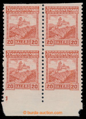 195384 - 1926 Pof.216A, Castles 20h orange, coil stamps, without wate