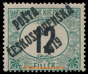 195402 -  Pof.129Px, Black numerals 12f green / black, combined perfo