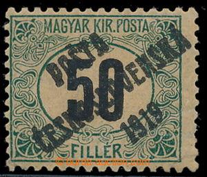 195405 -  Pof.130Pw, Black numerals 50f green / black, line perforati