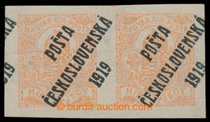 195408 -  Pof.125y, 2f red orange, horizontal pair with wmk Py (VI.),