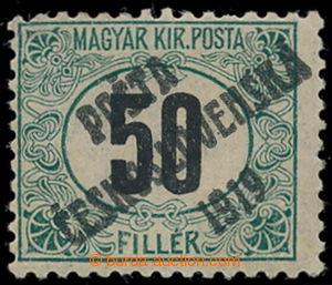 195411 -  Pof.130Pw, Black numerals 50f green / black, line perforati