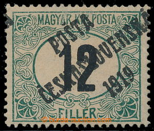 195412 -  Pof.129Px, Black numerals 12f green / black, combined perfo