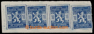 195416 - 1918 Pof.SK1, Scout stamps 10h blue, joined printing of 4 st