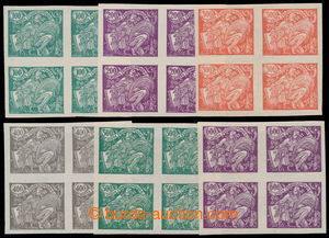 195426 -  Pof.164N-169N, UNISSUED imperforated stamps 100h-600h, bloc