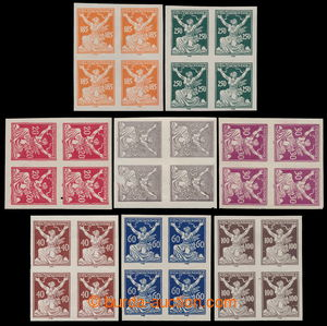 195447 -  Pof.151N-161N, set of 8 imperforated blocks of four, values
