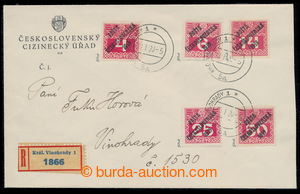 195466 - 1920 philatelically influenced Reg letter in the place with