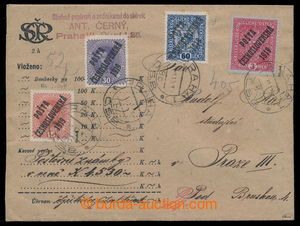 195476 - 1919 money letter for 4.530Kč sent in the place, franked wit