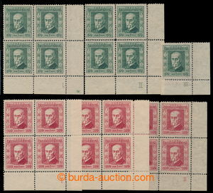 195483 - 1923 Pof.176-177 plate number, Jubilee 50h green and 100h re