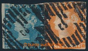 195488 - 1848 SG.3 a SG.5, Červený a Modrý Mauritius POST PAID na výs