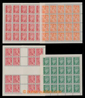 195606 - 1942 VÁLEČNÉ PADĚLKY, kat. Maury 2, 3, 5 , 7; 50C a 1Fr Peta