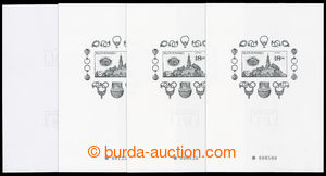 195648 - 1998 PT25, 25a, 4 special prints NITRA, with number 000500 a