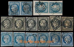 195892 - 1849 Mi.3, 4 / Maury 3, 4; sestava 6x CERES 20C černá, různé