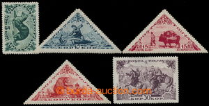 195897 - 1941 Mi.123-127, Motives 5 kop - 30kop; complete and rare is