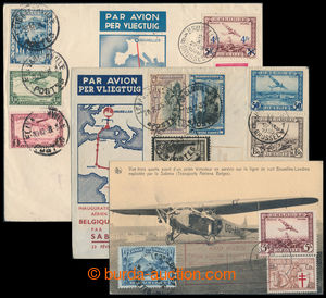 195928 - 1934-1936 2 letters and Ppc from Brussels to Belgian Congo a