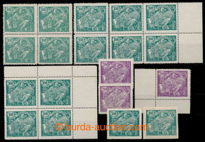 196130 -  Pof.164A, 100h green, line perforation 13¾, 15 pcs of, fro
