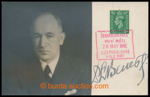 196156 - 1942 BENEŠ Edward (1884–1948), other Czechosl. president, fo
