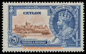 196239 - 1935 SG.381f, Jubilee George V. 20C with plate variety - Dia