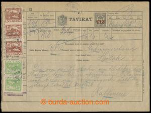 196315 - 1919 uherský spěšný celinový telegram Sürgös Távirat s přiti