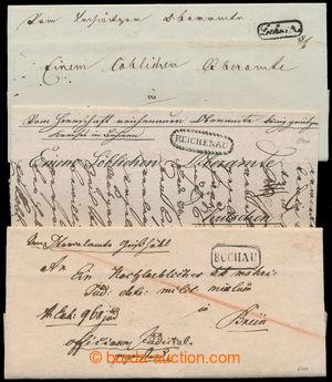 196417 - 1832-1847 ČESKÉ ZEMĚ / 3 dopisy s velmi neobvyklými oválnými