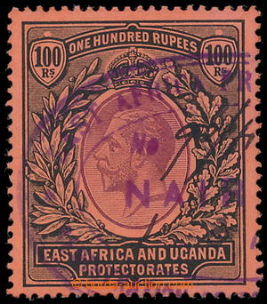 196429 - 1912 SG.62, George V. 100Rp, purple and black/ red, VF, fisc