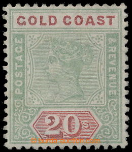 196433 - 1889 SG.24, Victoria 20Sh green/ red; very nice piece exp. S