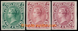 196446 - 1864 SG.44, 3 PLATE PROOF Victoria 2C imperforated, catalogu