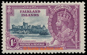 196449 - 1935 SG.142d, Jubilee George V. 1Sh with plate variety FLAGS