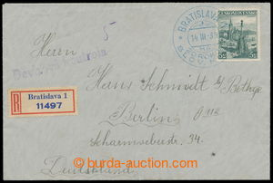 196524 - 1939 Reg letter addressed to to Berlin, with Pof.312, specia