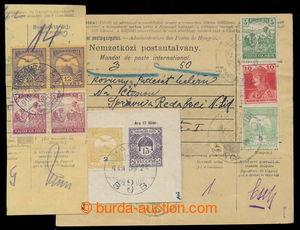 196612 - 1919 TURUL / větší díl uherské poštovní průvodky s vyfr. mj.