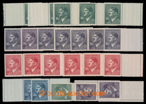 196682 - 1942 Pof.96-99, selection of 23 pcs of with coupons, contain