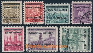 196683 - 1939 sestava 7ks, Pof.2, 3, 7, 8, 12, 17 a 18; 6ks zk. Gi, k