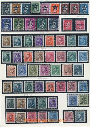 196687 - 1945 LIBOC, SUŠICE atd. / sestava 61ks revolučních přetisků