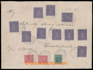 196841 - 1918 commercial money letter for 300.000K (!) franked with 1