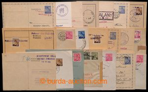 196846 - 1945 selection of 20 pcs of various entires with provisory c