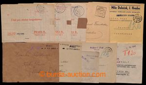 196849 - 1945 comp. 10 pcs of letters with various provisory cancel.
