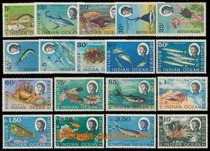 196896 - 1968 SG.16-30 incl. 20a, 23a, 24a; Elizabeth II. Sea fauna 5